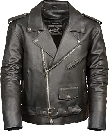 Motorcycle Leather vest jacket simple model with lace Big Size M ~ 3XL  NEW
