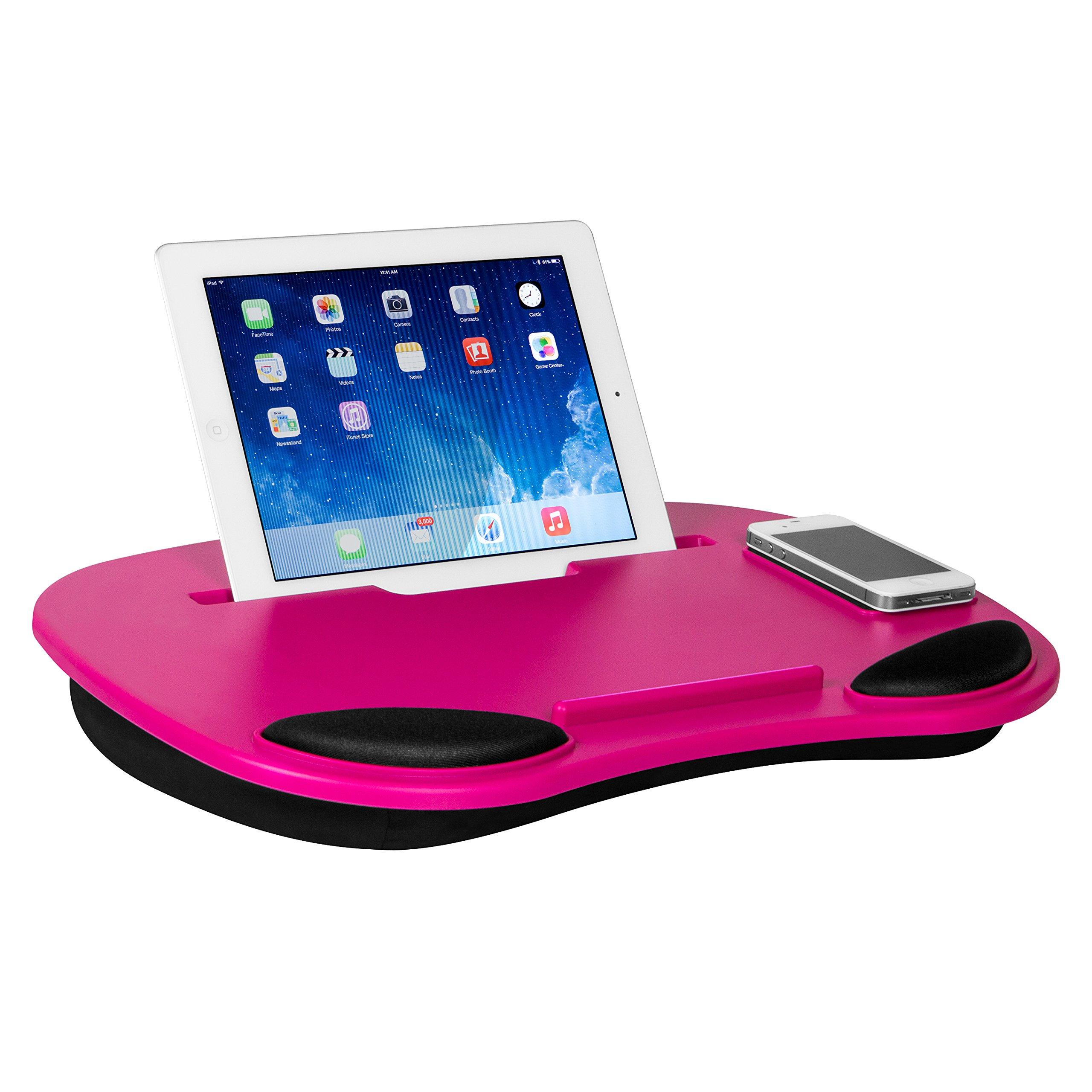 Smart Media Desk Dark Pink Computer and Tablet LapDesk