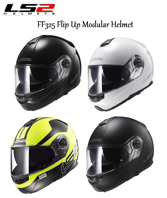 MOTORBIKE LS2 FF325 STROBE DVS ADULT FULL FACE MODULAR HELMET Motorcycle Scooter Rider Men & Women Commuter Racing Touring Urban Sports ECE Certified Flip up Helmet LS2 HELMETS