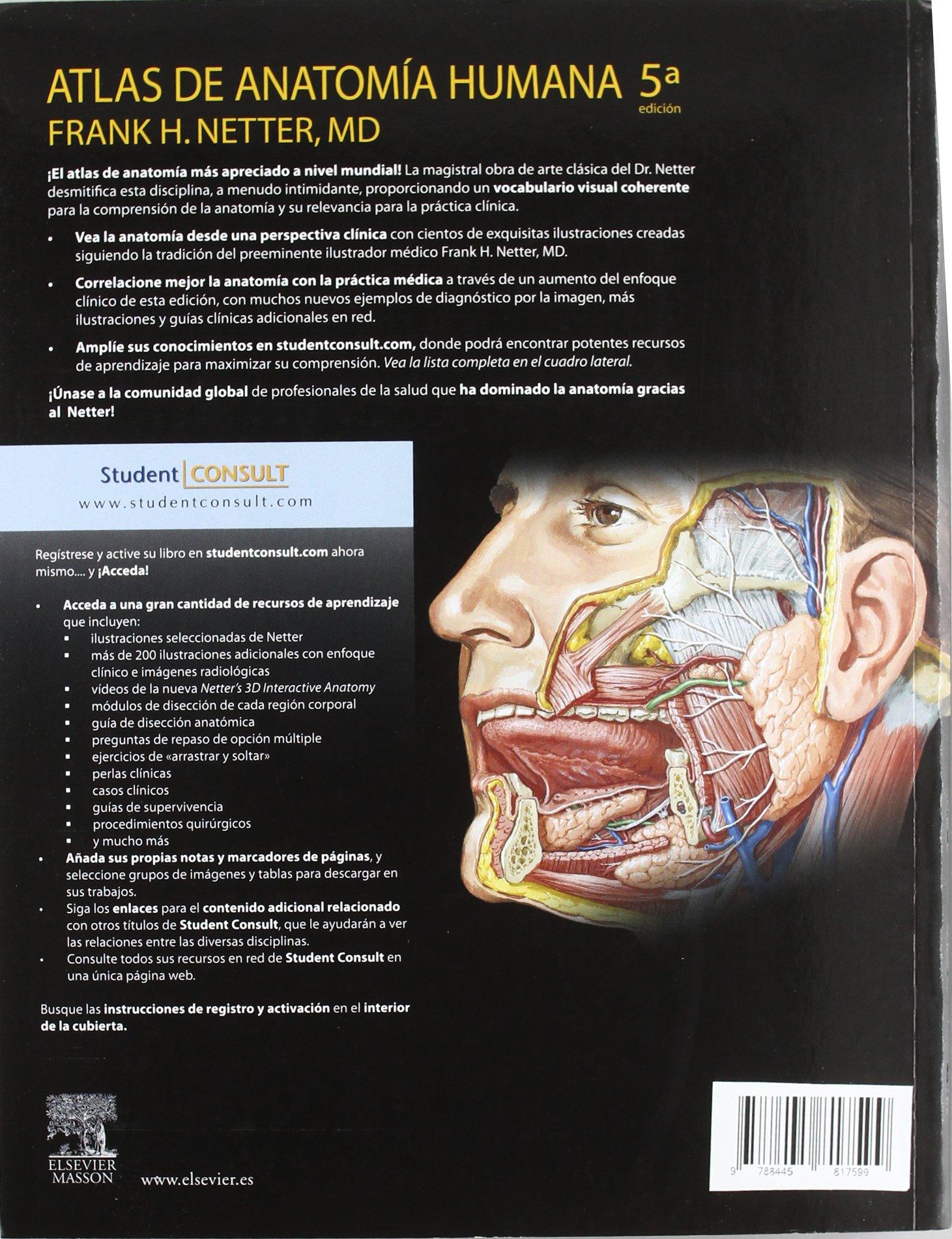Atlas de anatomia humana [Nov 11, 2004] Netter, Frank Henry: FRANK ...
