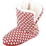 Chaussons Bottes en tricot Liana Confortables Doublures en fausse fourrure Semelles antidérapantes Pointures 35,5-42