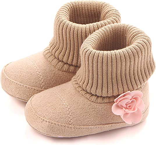 Baby Girl Boy Newborn Winter Warm Boots Toddler Infant Soft Socks Booties ShoeES