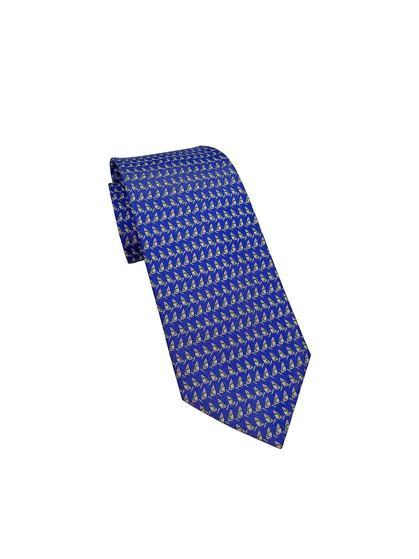 Salvatore Ferragamo Men's Royal Blue Boat Nautical Silk Neck Tie
