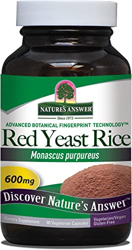 Nature s Answer Red Yeast Rice Vegetarian Capsules, 90-Count