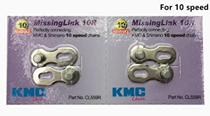 KMC MISSING LINK 10 SPEED 5.9MM SHIMANO-KMC BICYCLE CHAIN LINKS--CARD OF 6