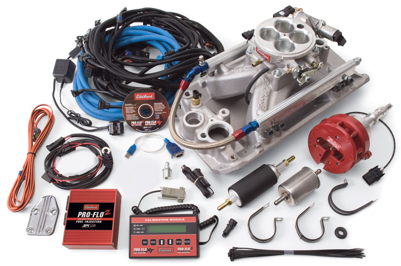 Amazon.com: Edelbrock 35300 Pro-Flo 2 Electronic Fuel Injection Kit Cast  Iron Incl. Manifold/Throttle Body/Fuel Rails/Fuel Injectors/ECU/Calibration  Module ...