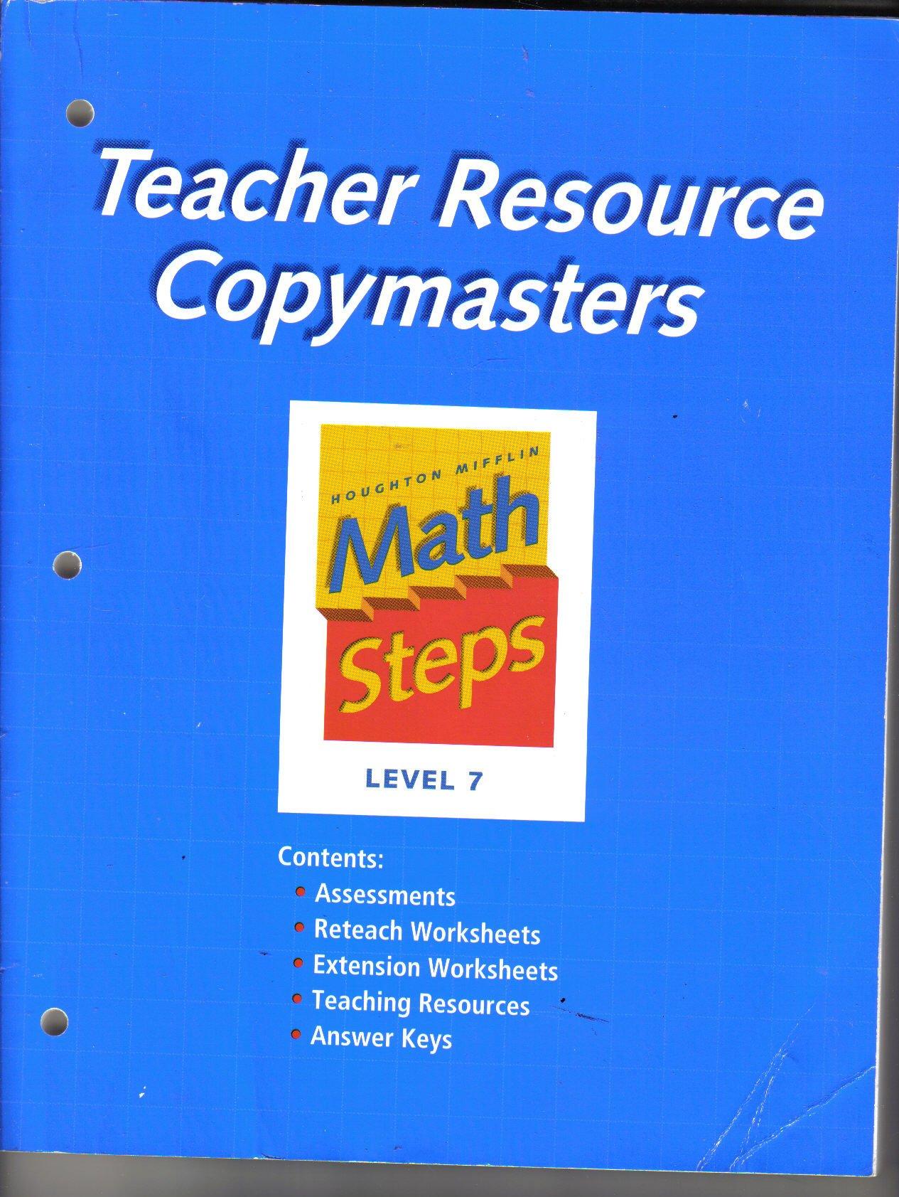 Amazon.com: Math Steps: Teacher Resource Copymasters Grade 7 ...
