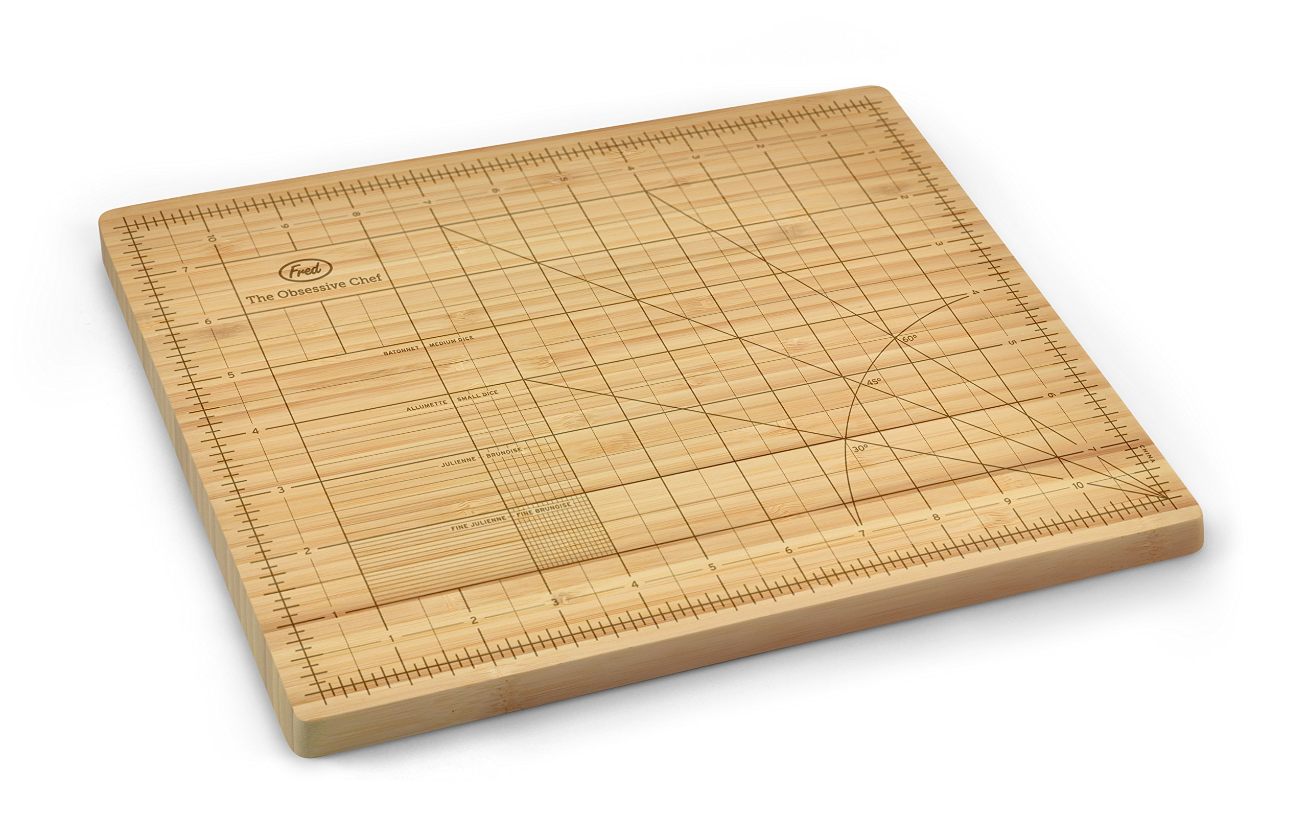 Fred THE OBSESSIVE CHEF Bamboo Cutting Board, 9-inch by 12-inch by Fred & Friends
