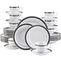 Deals on Mikasa 5224200 Platinum Crown Cobalt 40-Pc Dinnerware Set