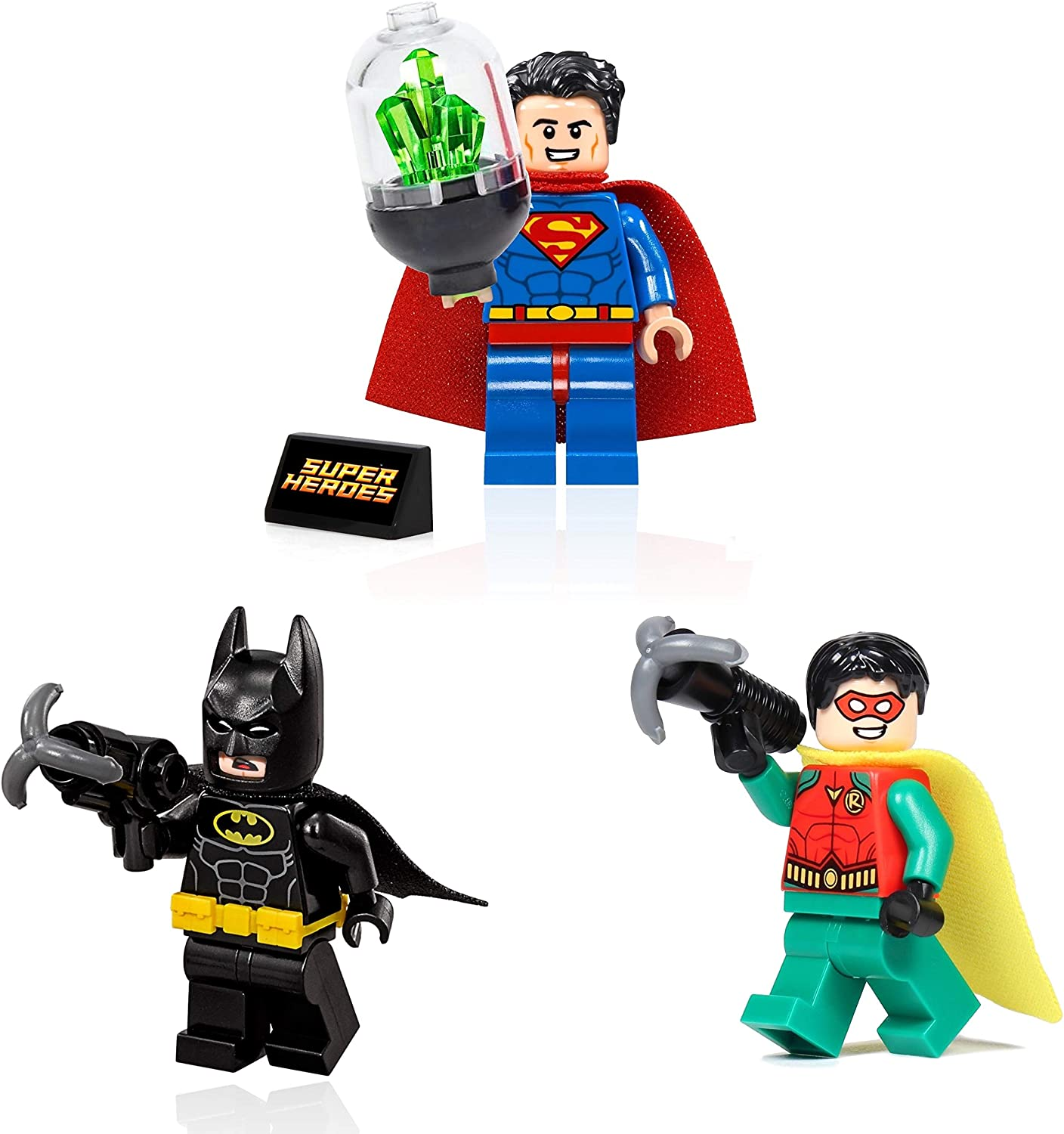 Superman and Robin Minifigures with Accessories and Display LEGO DC Super Heroes Combo Pack Batman