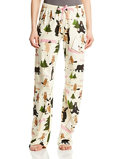 Hatley Black Bears On Natural - Parte de abajo de pijama para mujer: Amazon.es: Ropa y accesorios