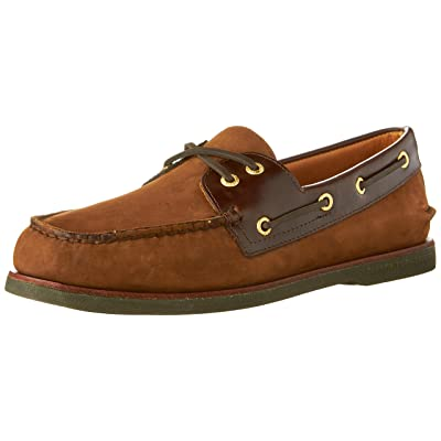 Sperry Top-Sider Men's Brown/Buc Brown Gold A/O 2-Eye 8 D(M) US