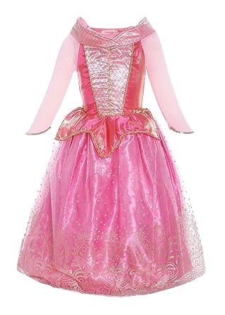 794a810385888 ReliBeauty Fille-Robe d Aurore pour Enfant-Costume de Conte de fée ...