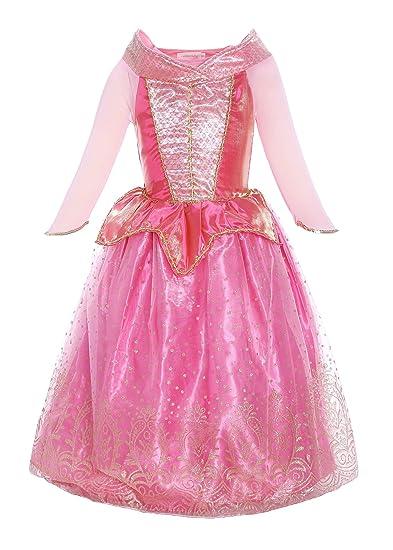 ReliBeauty Fille-Robe d Aurore pour enfant-Costume de Conte de fée ... 9483b99beca2