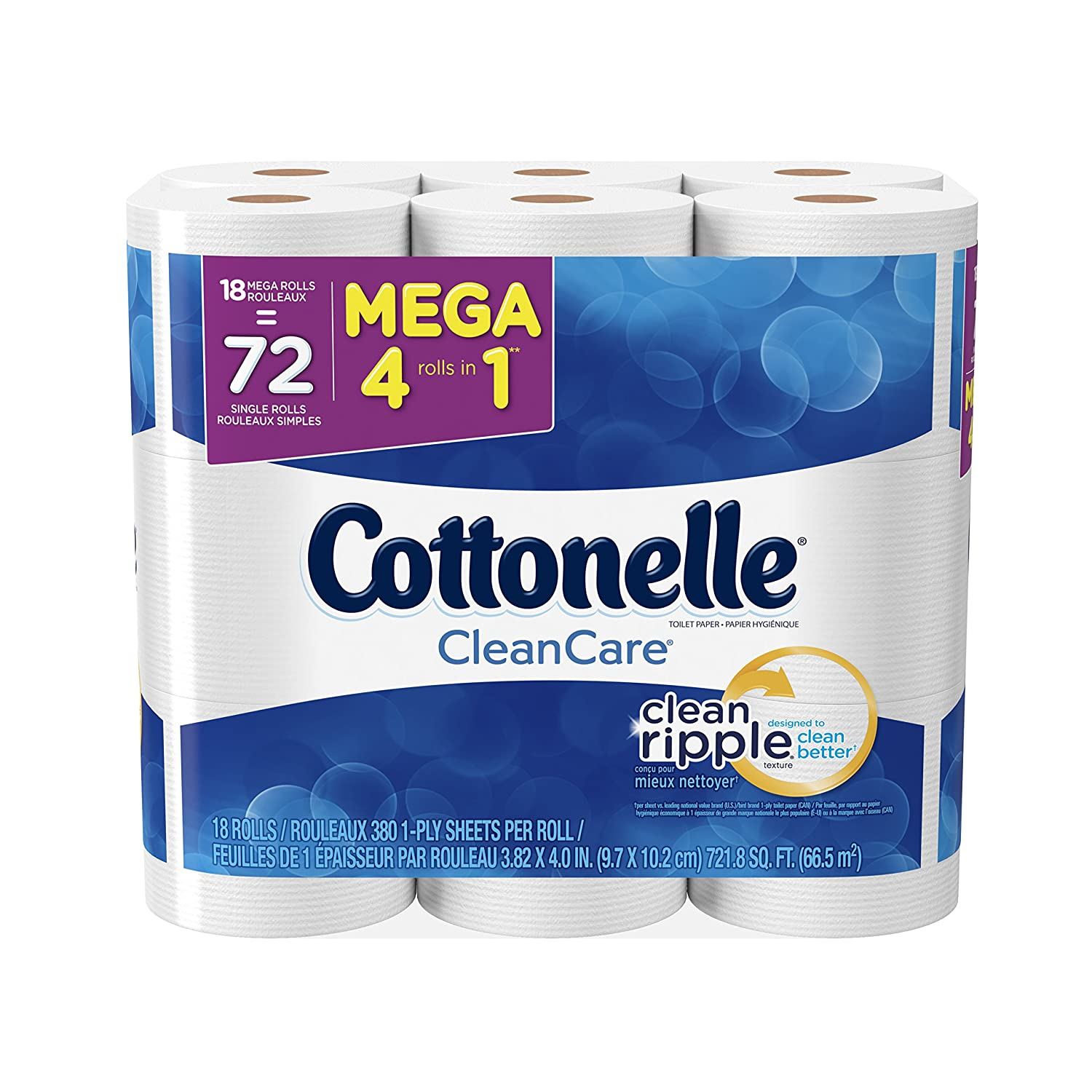 Amazon.com: Cottonelle Clean Care Toilet Paper, Double Roll, 4 ...
