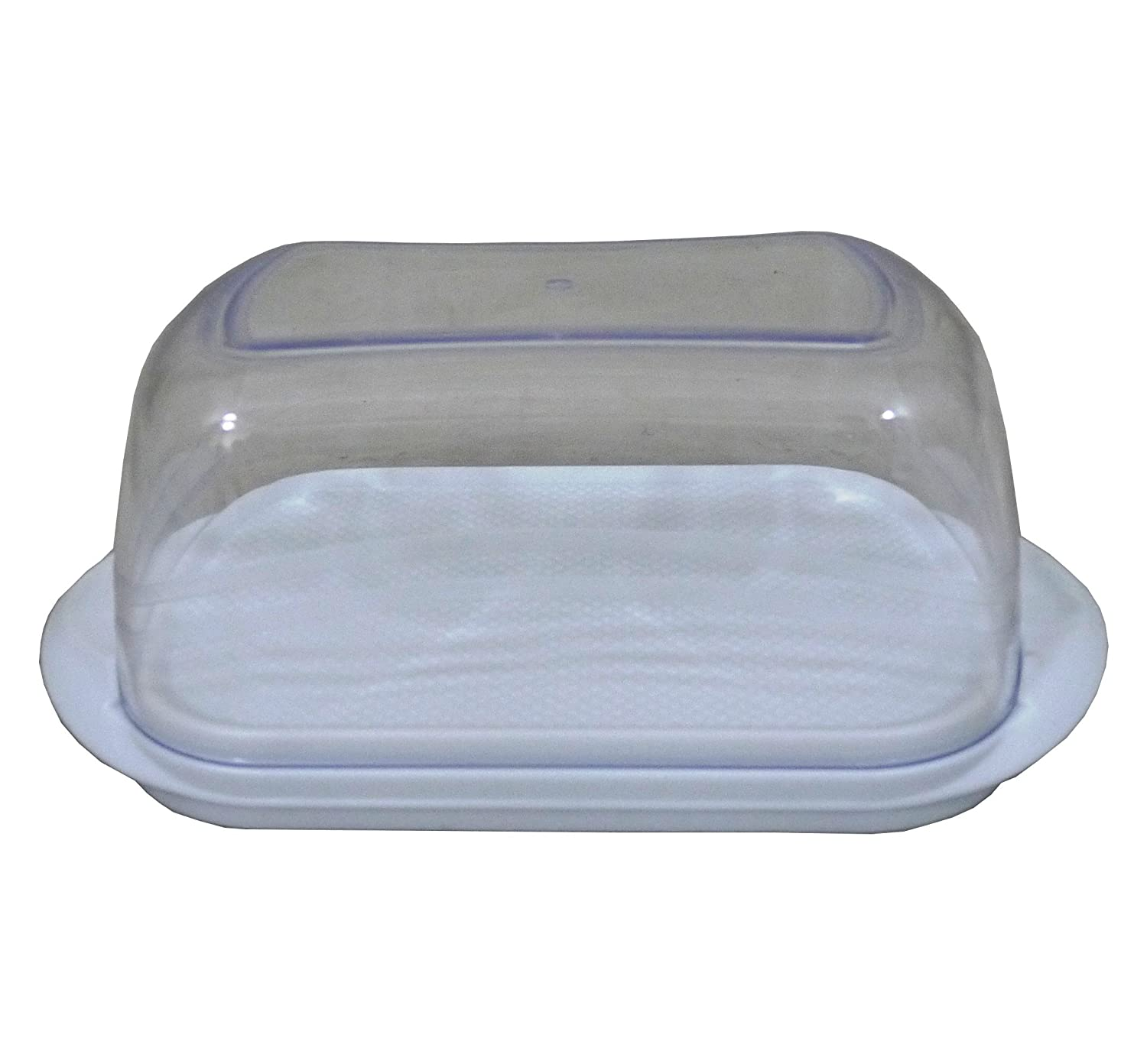 High Quality White Plastic Butter Dish Box With Clear Lid Hobby