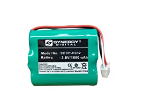 Huawei BTR2260B Cordless Phone Battery NiMh, 3.6 Volt, 1600 mAh, Replacement Battery for Huawei HGB-15AAX3 Cordless Phone Battery