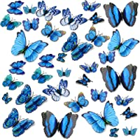 Topixdeals Wall Decal Butterfly, 36 PCS 3D Butterfly Stickers with Double Wings, Sponge Gum and Pins, Removable Wall…