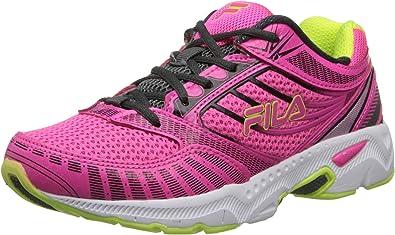 Fila Reckoning 5 - Zapatillas de correr (niño pequeño/niño grande), Rosa (Rosa neón/Sombra oscura/Verde neón), 37 EU: Amazon.es: Zapatos y complementos