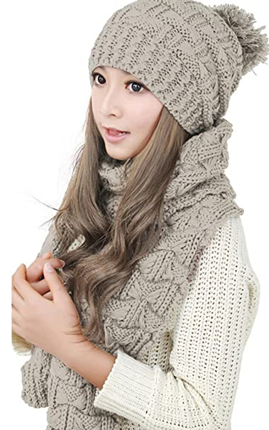 8a4ad00a1 Ouyilu Autumn/Winter Warm Hat With a Multi-Colored Women's Sweater ...