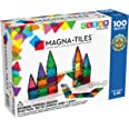 Magna-Tiles 100-Piece Clear Colors Set, The Original Magnetic Building Tiles For Creative Open-Ended Play, Educational Toys F