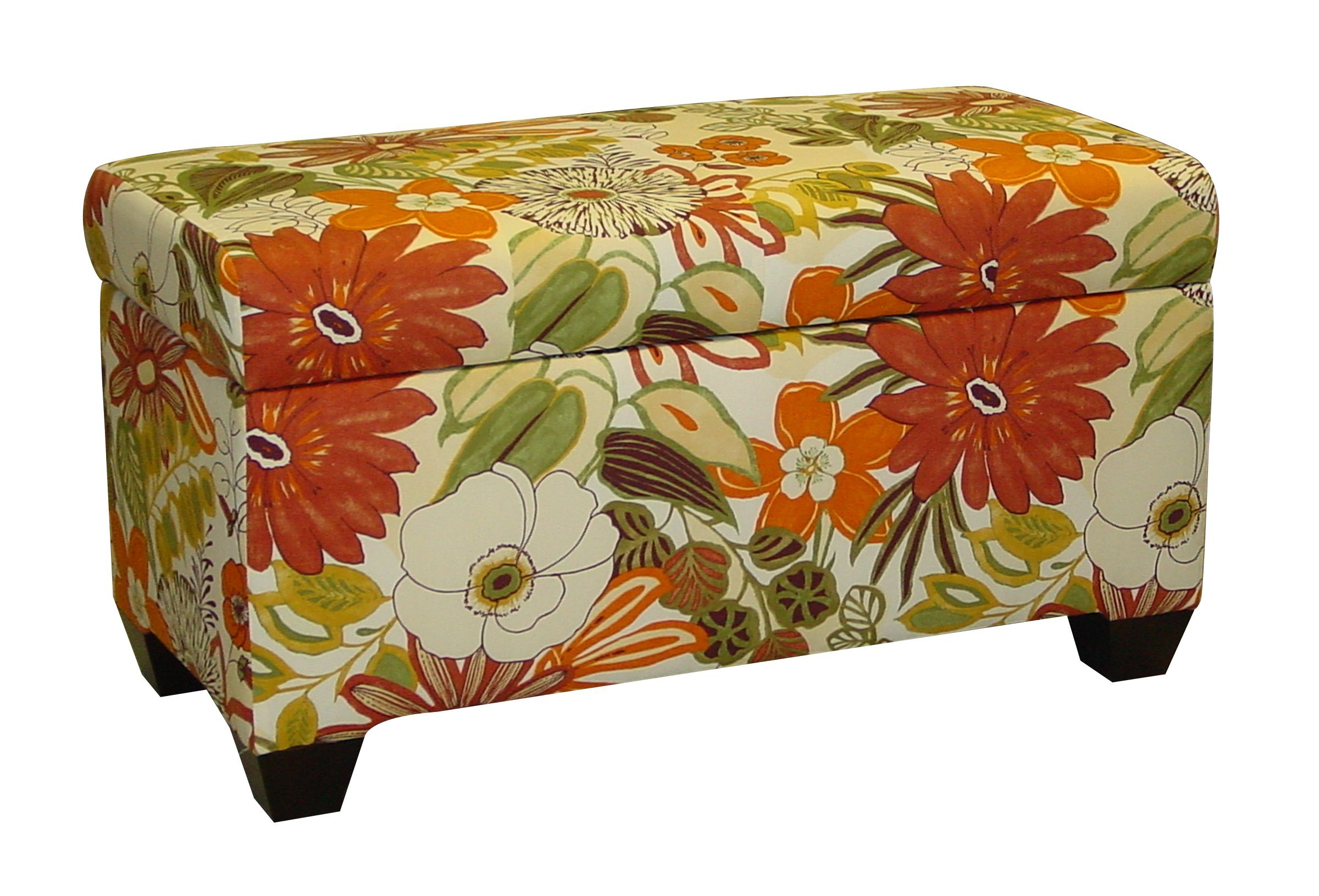Skyline Furniture Walnut Hill Storage Bench in Lilith Marigold Fabric - Hand crafted in the USA Solid wood frame 100-Percent Cotton Upholstery - entryway-furniture-decor, entryway-laundry-room, benches - 81e654YUVwL -