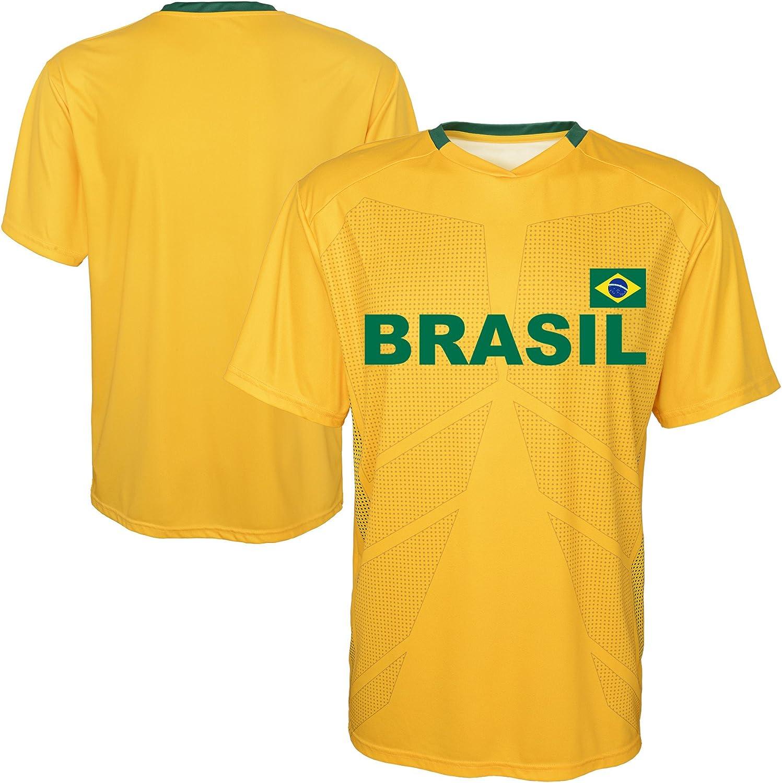 Gen2 Brazil World Cup Soccer Red Youth Shirt