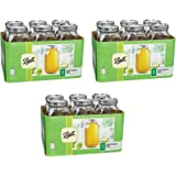 Ball Wide Mouth Half Gallon 64 Oz Jars with Lids and Bands Set of 6 (Pack of 3) Brand New and Fast Shipping