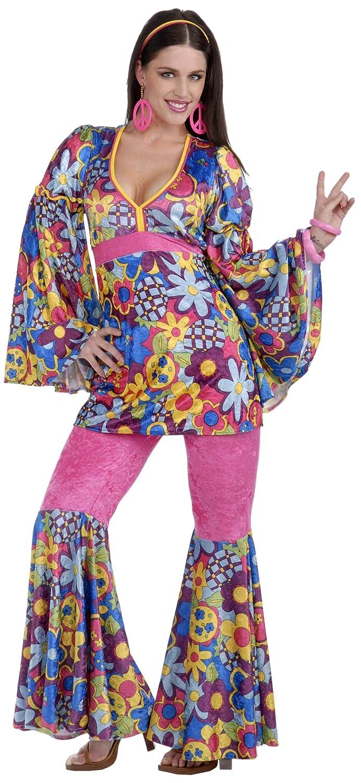 Hippie Costumes, Hippie Outfits Forum Novelties Womens 60s Revolution Hip Flower Child Go-Go Costume $31.92 AT vintagedancer.com