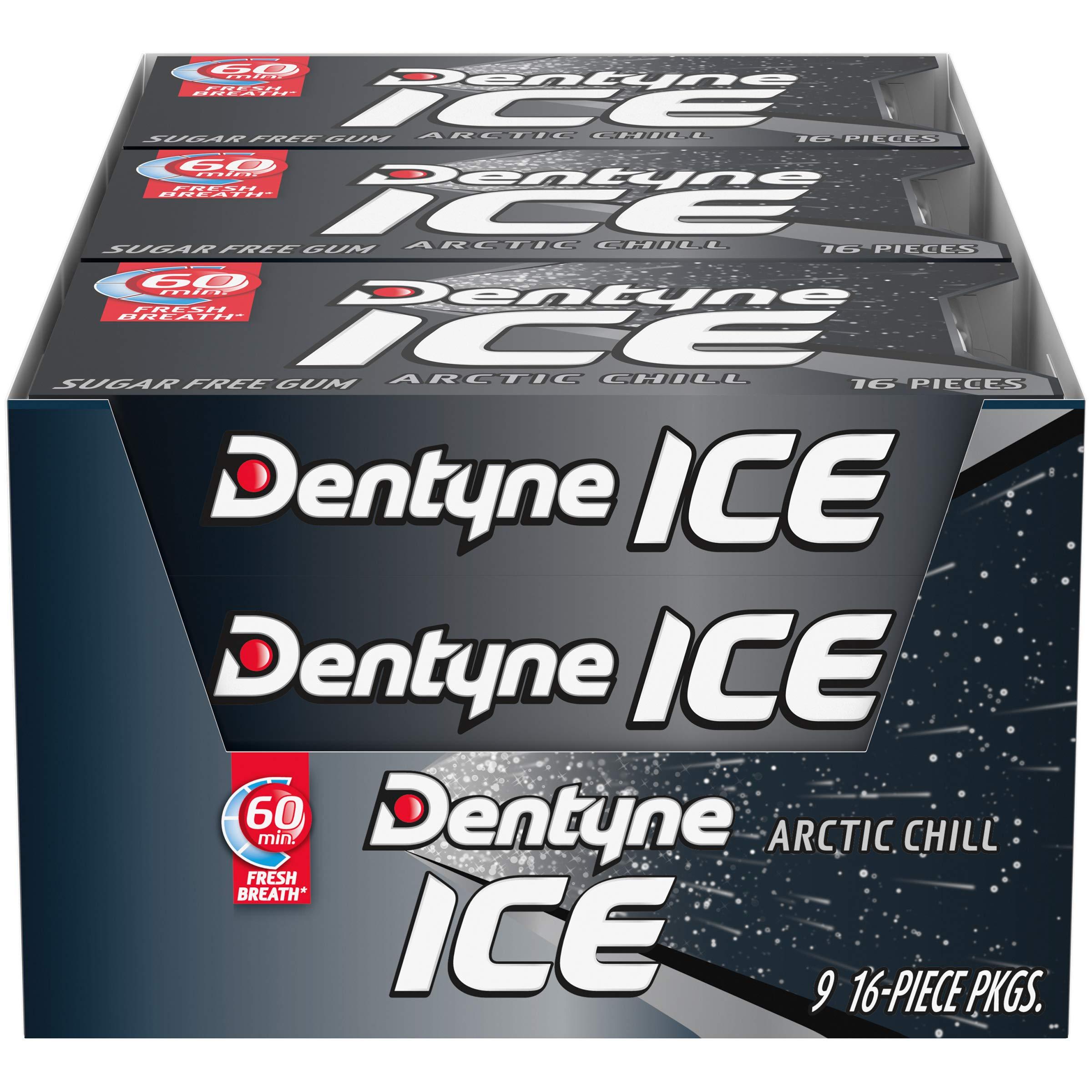 Dentyne Ice Sugar Free Gum (Arctic Chill  16 Piece  Pack of 9) by Dentyne