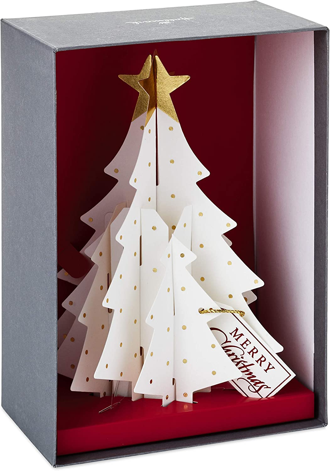 Amazon Com Hallmark Paper Craft Boxed Christmas Cards Pop Up Christmas Tree 5 Cards With Envelopes Office Products