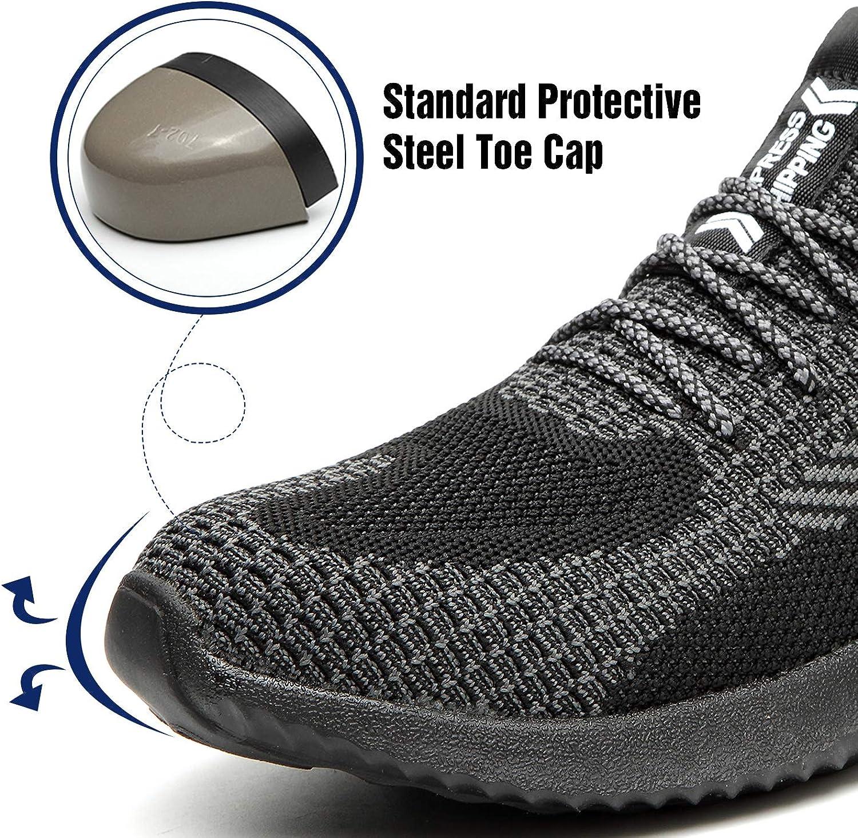 Gr Ucayali Unisex Sicherheitsschuhe Leicht Stylisch Einstichresistent Arbeitsschuhe mit Stahlkappe 39-48