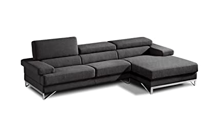 Amazon.com: Divani Casa Coburn - Modern Fabric Sectional ...