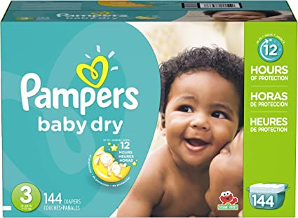 144 pcs Pampers Swaddlers Size 4 Baby Dry Disposable Diapers Economy Pack Plus
