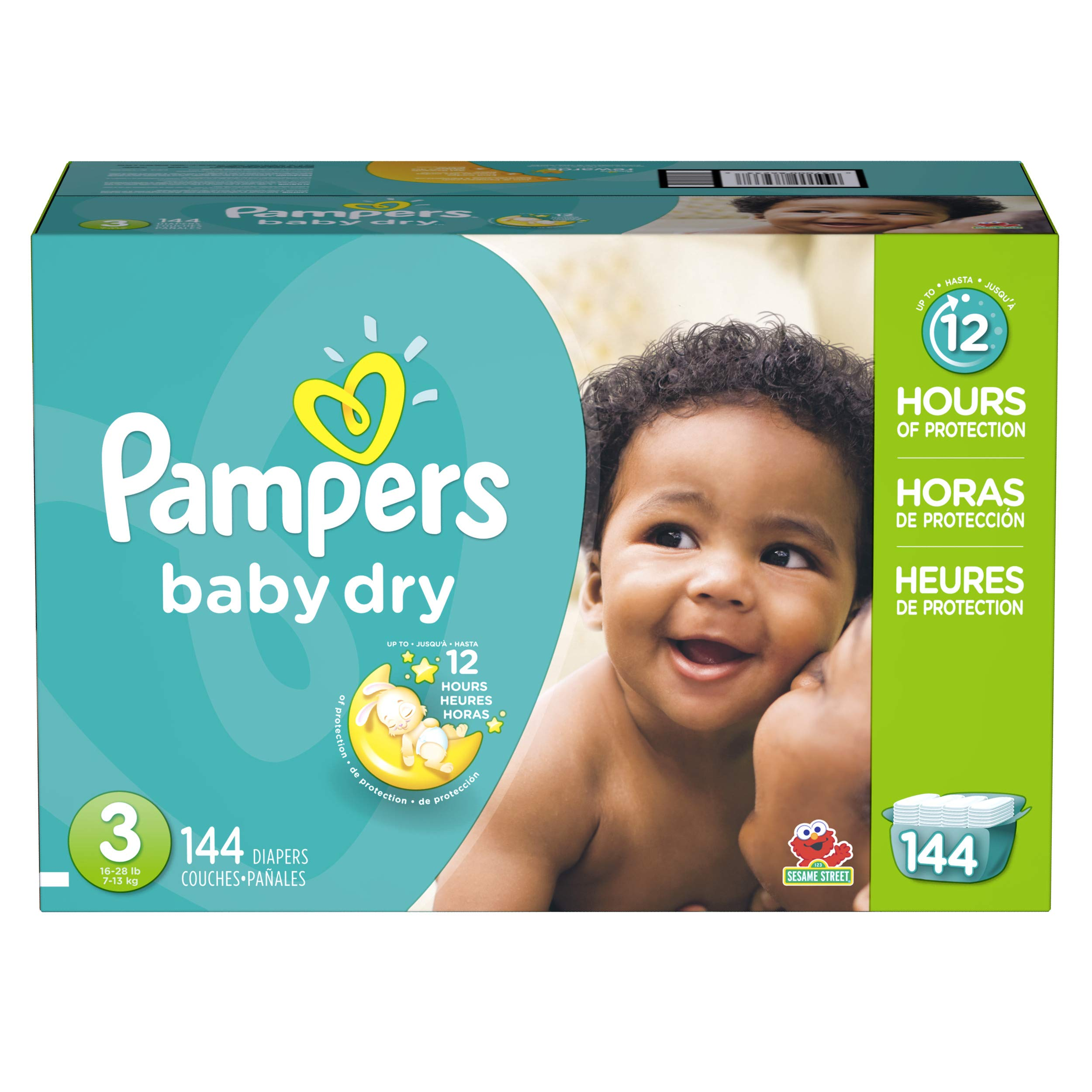Diapers Size 3, 144 Count - Pampers Baby Dry Disposable Baby Diapers, Giant Pack by Pampers