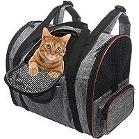 ZPNBKLS Plecak dla zwierząt domowych, plecak dla zwierząt domowych akcesoria podróżne przezroczyste przenoszenie dla psa…