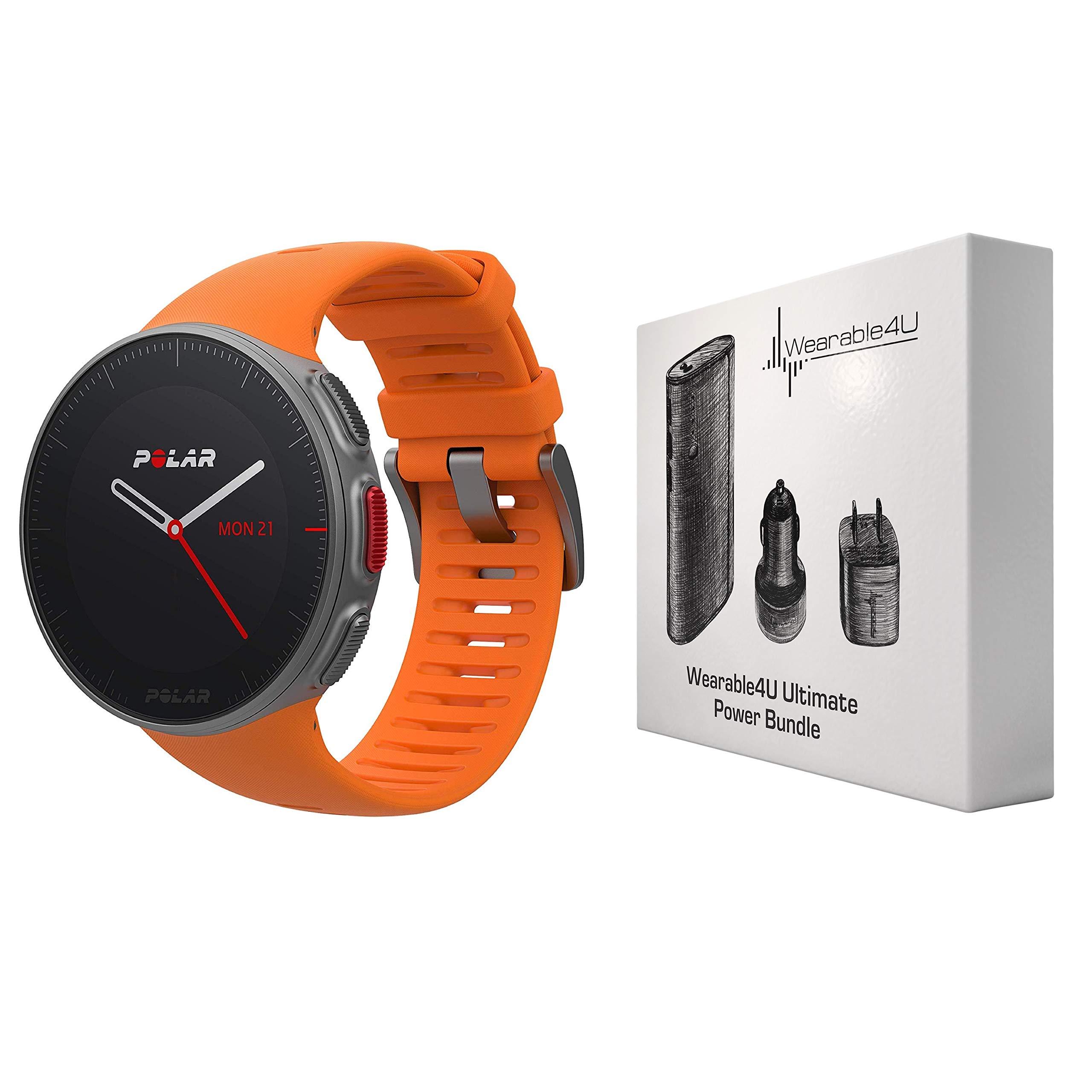 35d3bf0ef Polar Vantage V Pro Multisport GPS Watch and Wearable4U Ultimate Power Pack  Bundle (Orange)