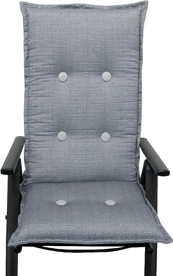 Cojines silla asiento cojín de muebles de jardín con respaldo alto silla de jardín: Amazon.es: Jardín