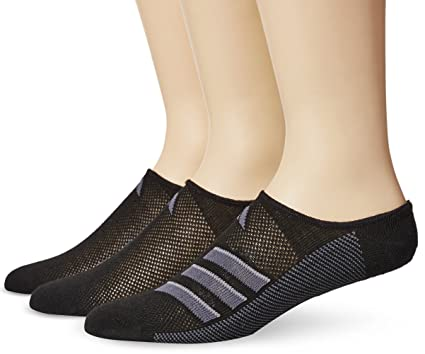 release date: 1b681 b3b43 adidas Mens Climacool Superlite Super No Show Socks (3-Pack), Black