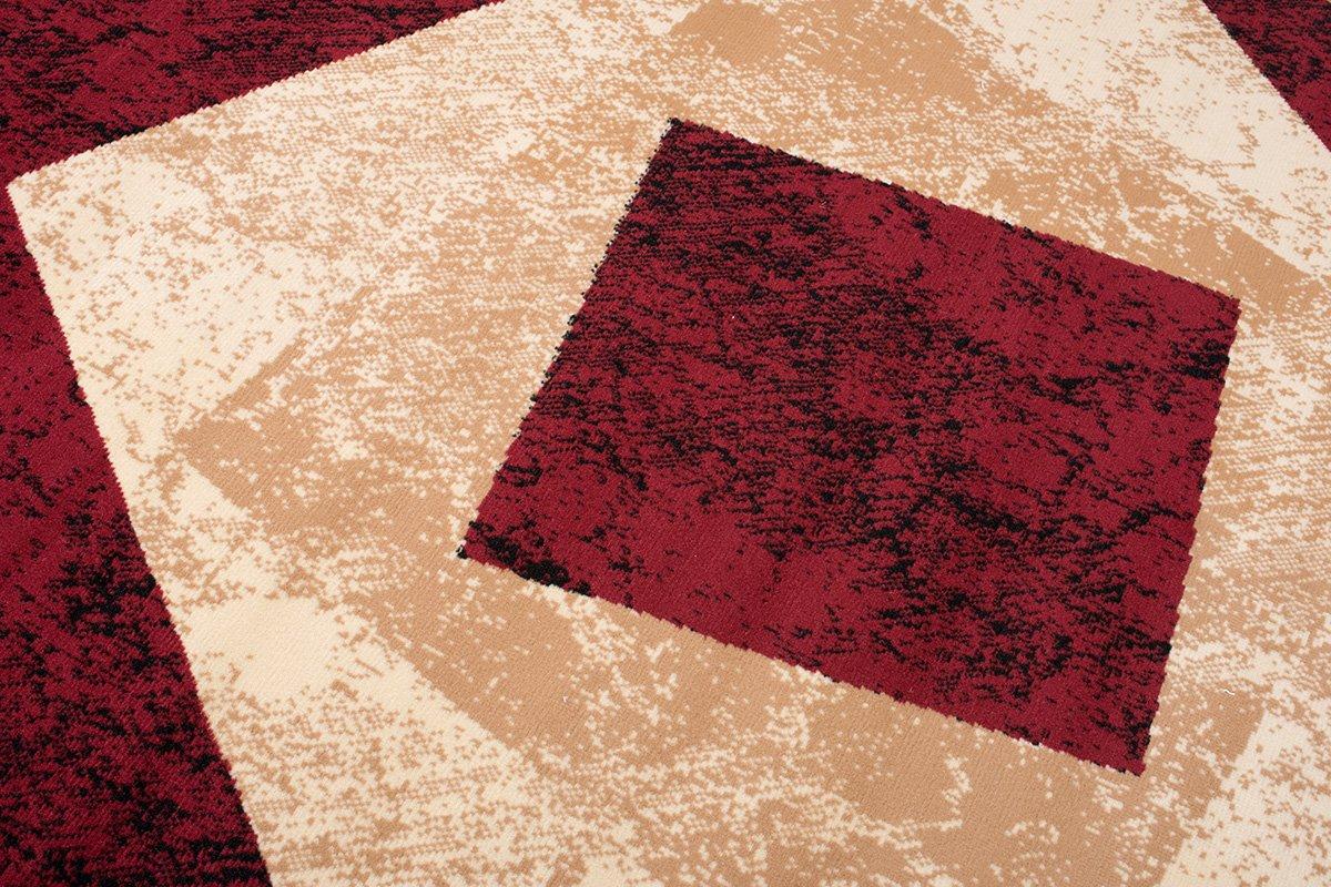 Designer Teppich Teppich Teppich mit Karo Kariert Meliert in Beige Rot - ÖKO Tex (250 x 350 cm) B06XTQFDMP Teppiche e4688d