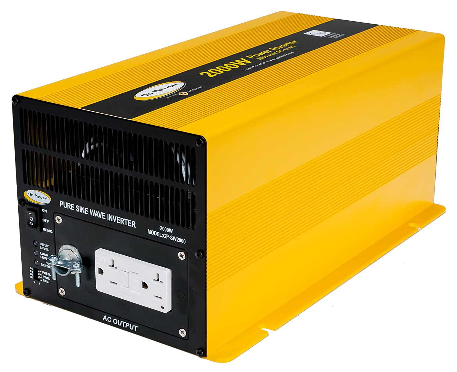 Go Power Gp Sw2000 12 2000 Watt Pure Sine Wave Inverter Modifying Square Inverters To Equivalents Automotive
