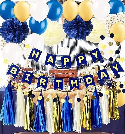 Amazon.com: Royal Pince - Pancarta de látex para cumpleaños ...