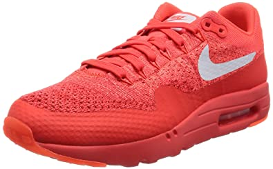NIKE Air Max 1 Ultra Flyknit, Chaussures de Running Homme, Rouge (Bright Crimson