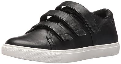 Kenneth Cole New York Women's Kingcro Triple Hook and Loop Sneaker, Black,  5.5 Medium
