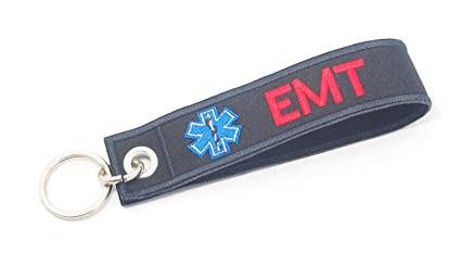 EMT EMS rescate de Medic etiqueta Llavero Biker Motorcycle ...