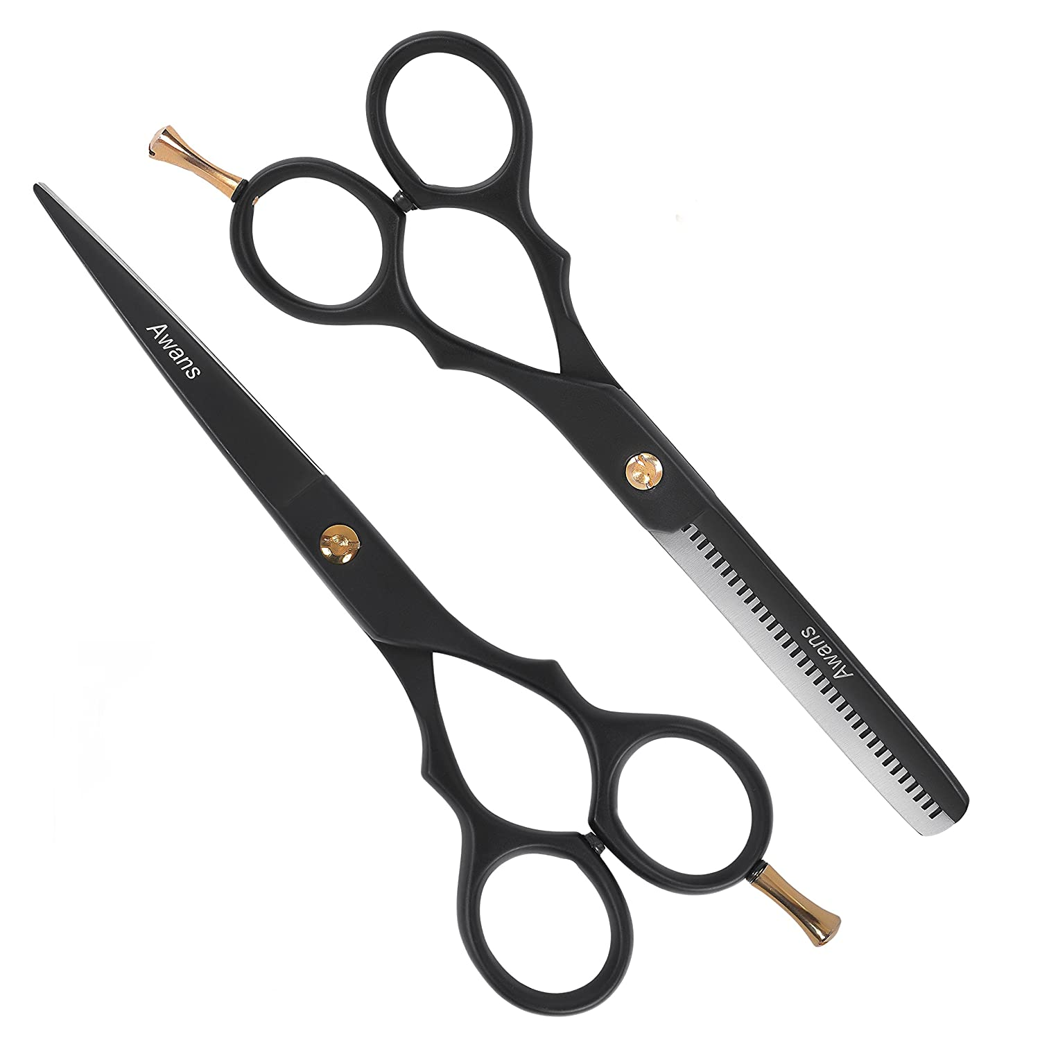 Awans Hairdressing Barber Salon Scissors 6, Thinning Scissors 6 With Adjustment Key 5060349502783