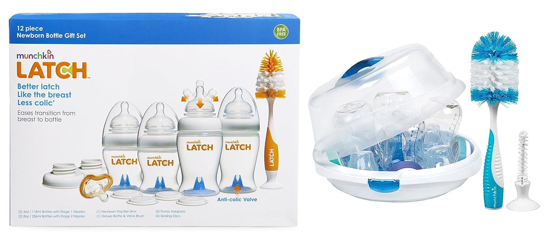 Amazon.com: Munchkin Latch recién nacido Botella 12 piezas ...