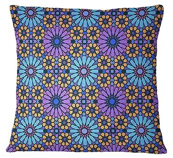 Amazon.com: s4sassy mosaico impresión funda de almohada ...