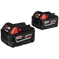 MILWAUKEE'S 48-11-1852 M18 REDLITHIUM XC 5.0 Ah Extended Capacity Battery (2 pack)