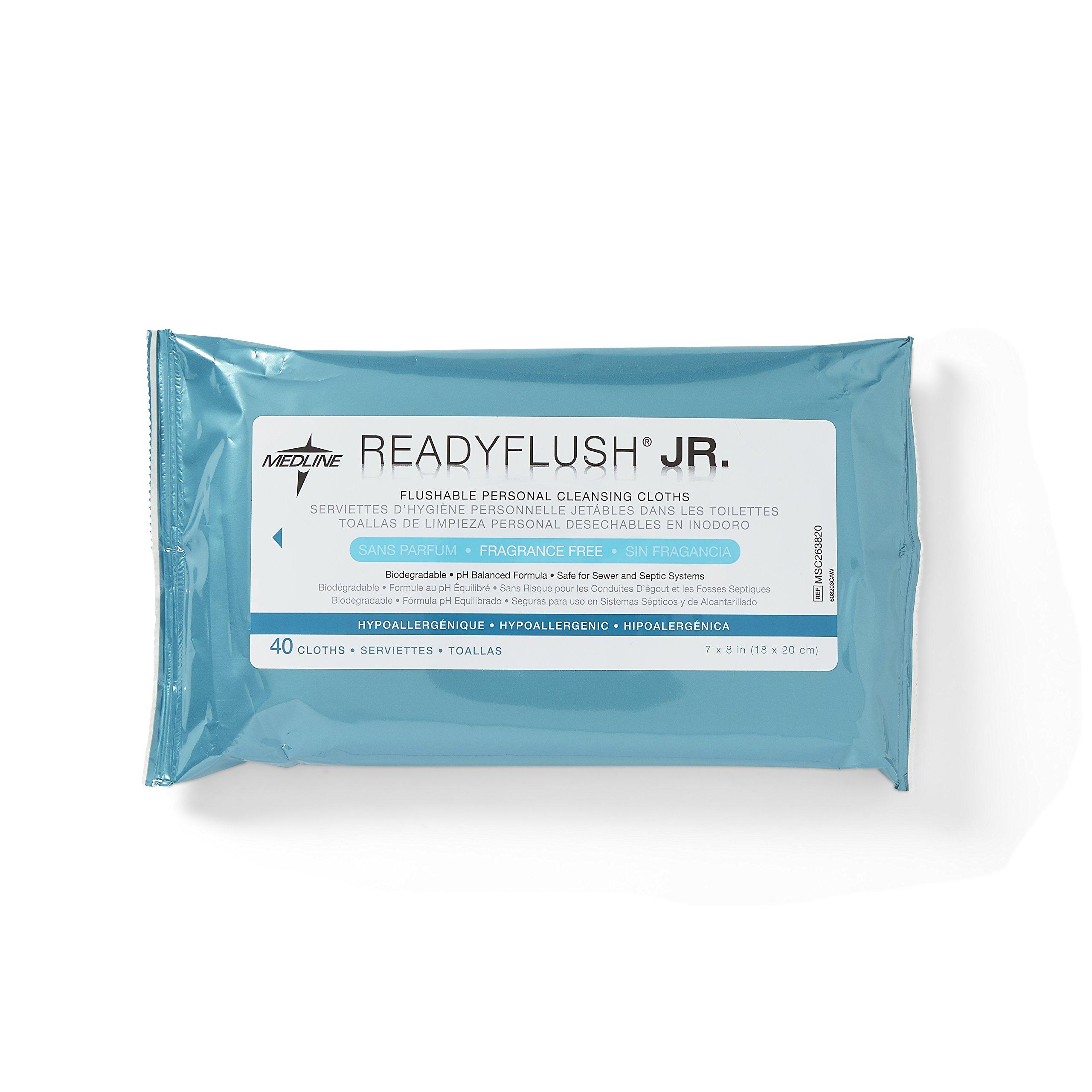 Medline MSC263820 ReadyFlush Jr. Flushable Wipes (Pack of 960)